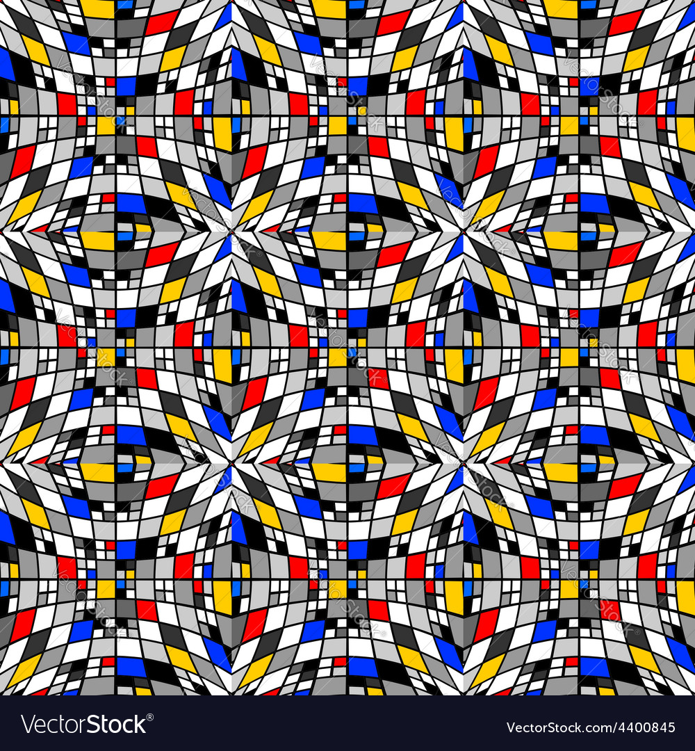 Design seamless colorful checked mosaic pattern vector | Price: 1 Credit (USD $1)