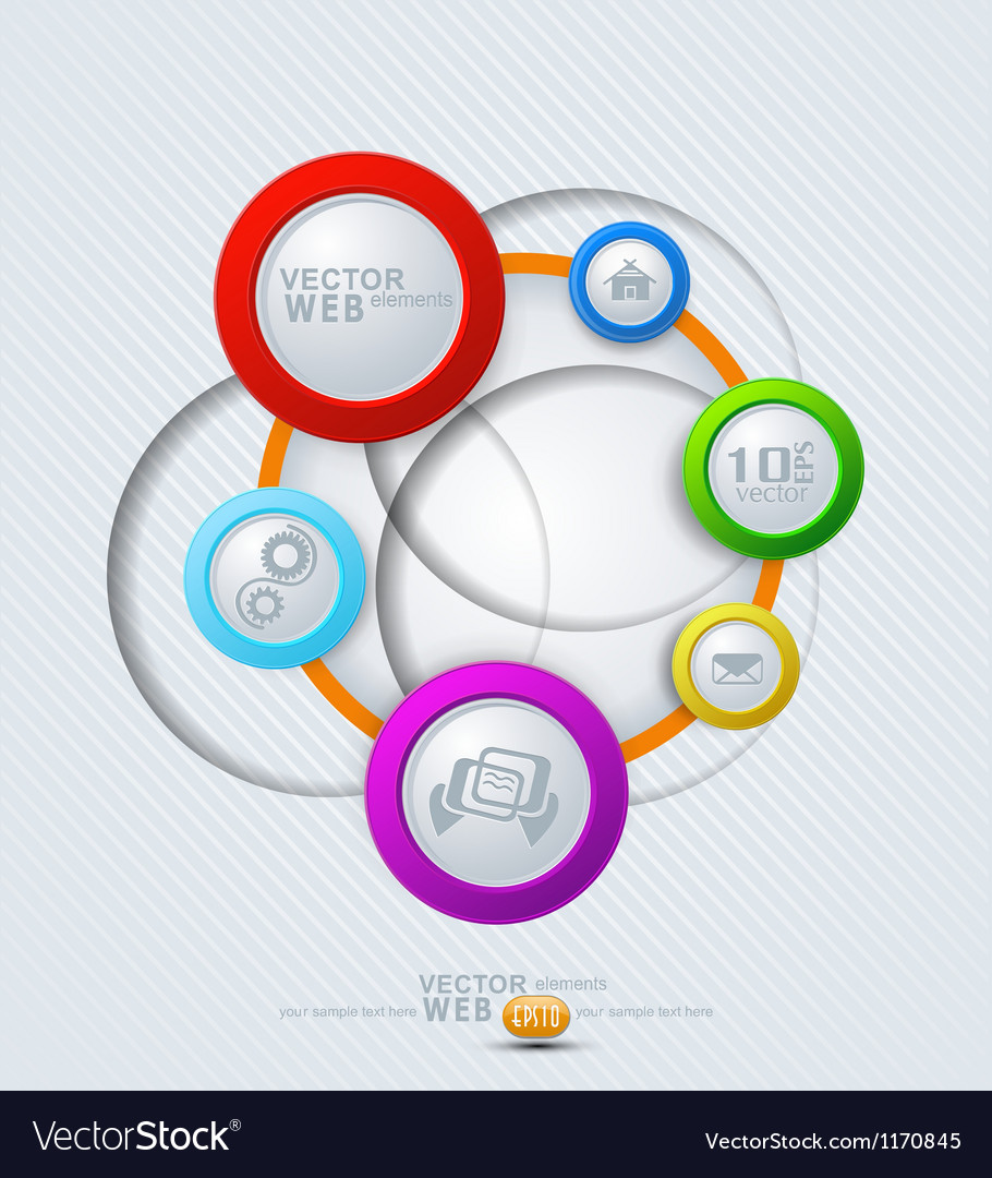 Elements for web design vector | Price: 1 Credit (USD $1)