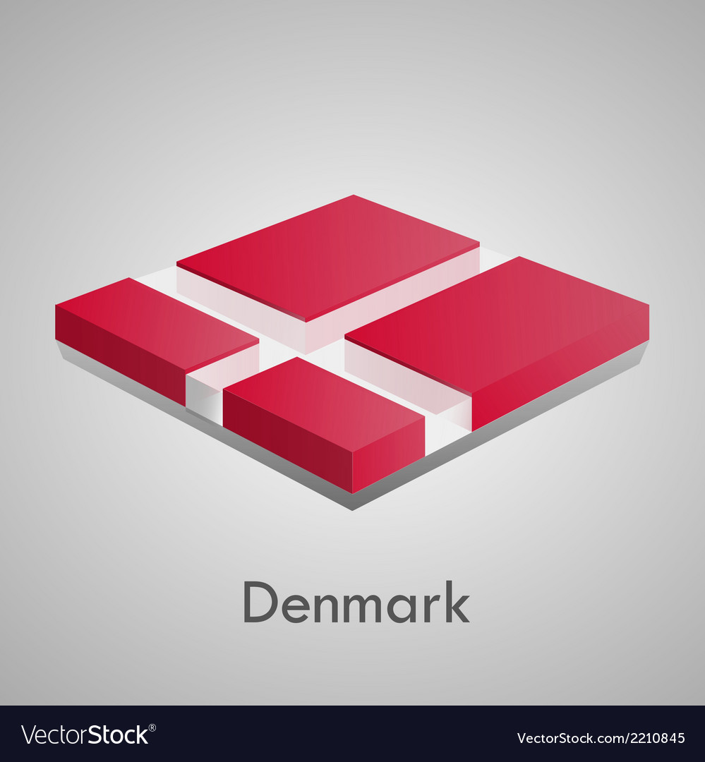 European flags set - denmark vector | Price: 1 Credit (USD $1)