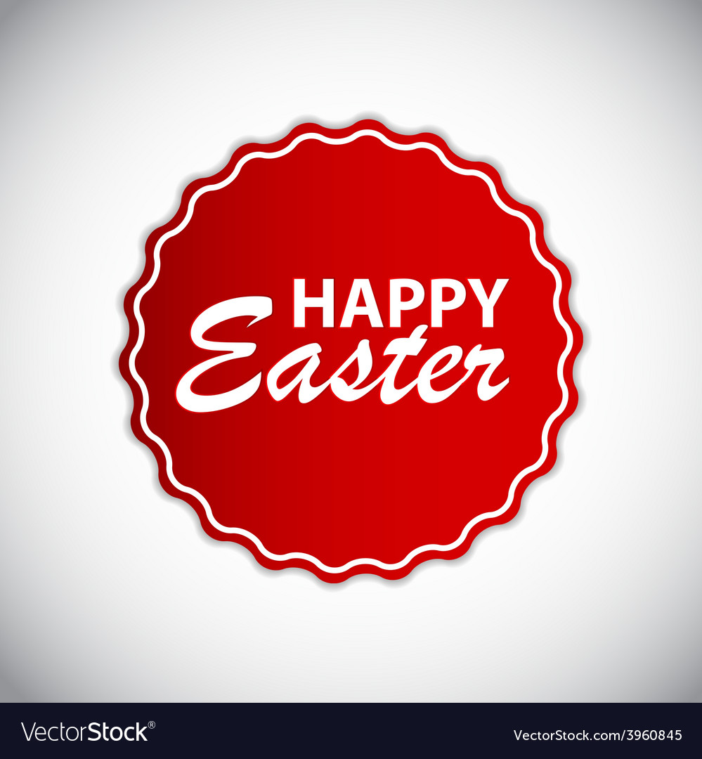 Happy easter label vector | Price: 1 Credit (USD $1)