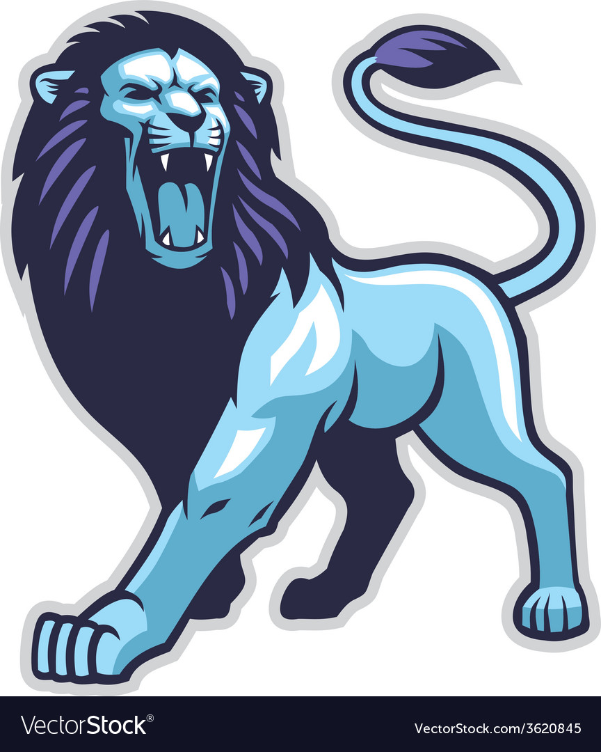 Lion stance vector | Price: 3 Credit (USD $3)