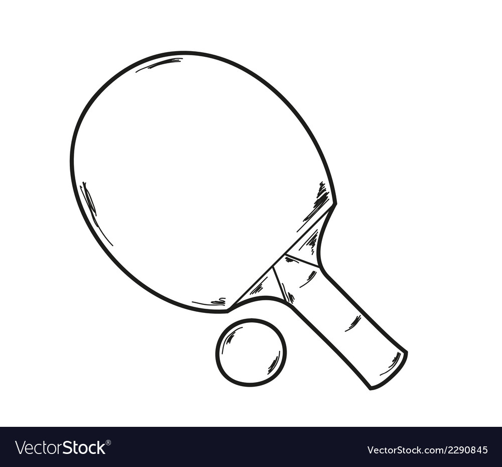One ping pong racket vector | Price: 1 Credit (USD $1)