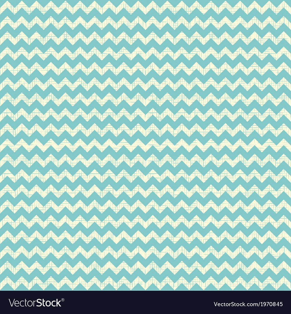 Seamless chevron pattern on linen turquoise canvas vector | Price: 1 Credit (USD $1)