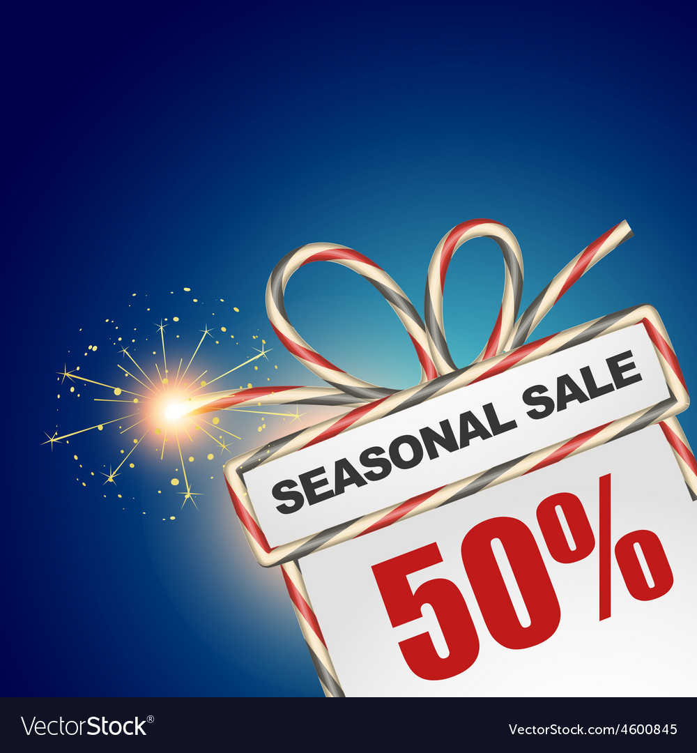 Seasonal sale discount vector | Price: 1 Credit (USD $1)