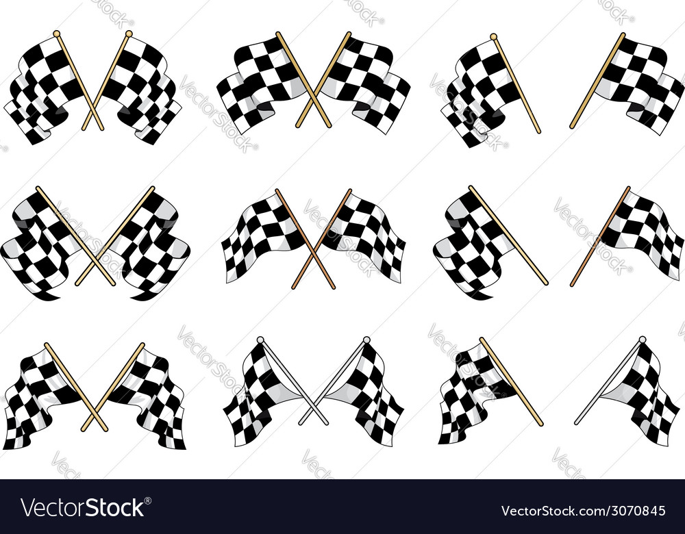Set of checkered flags vector | Price: 1 Credit (USD $1)