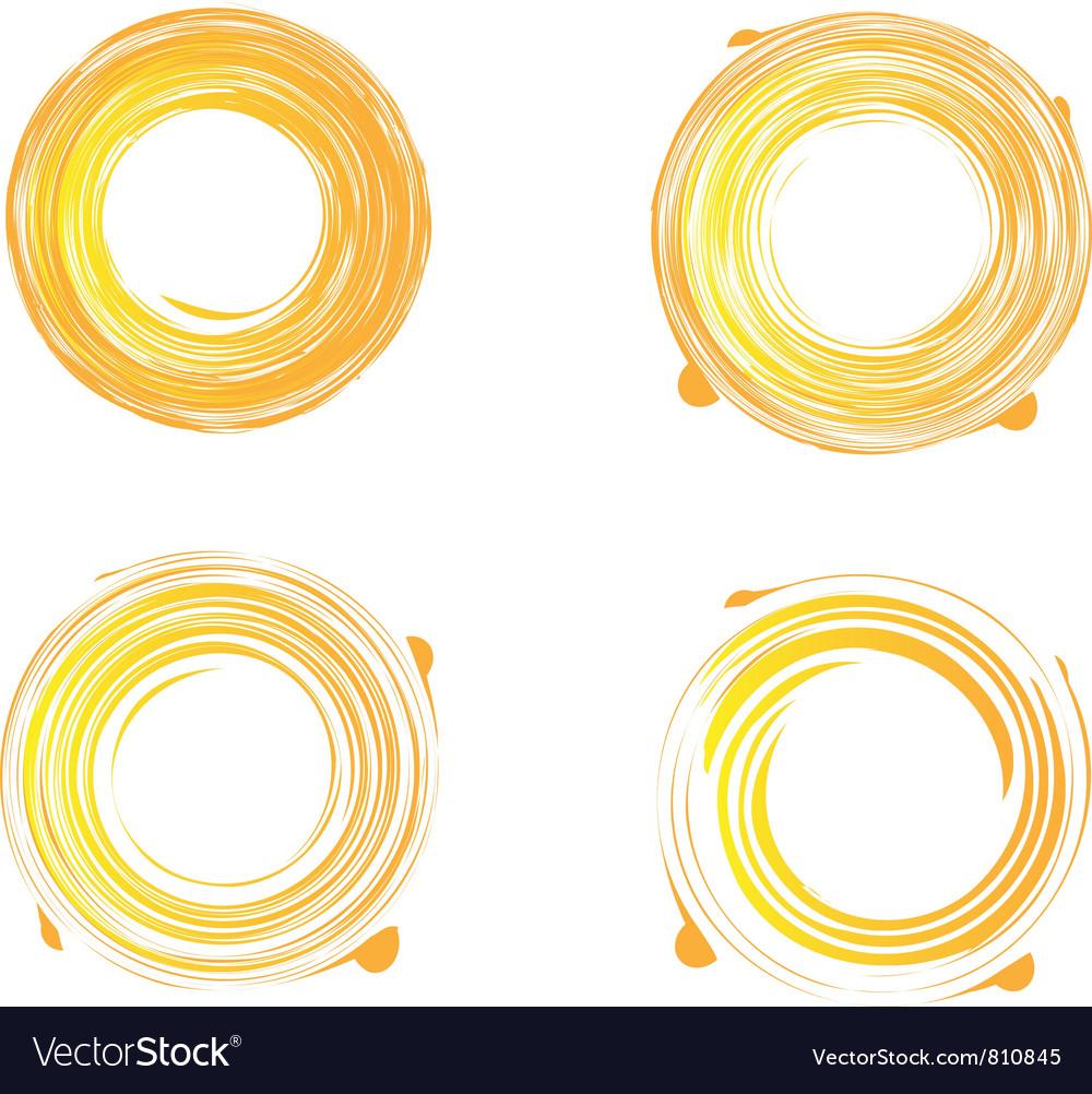 Swirly grunge sunburst vector | Price: 1 Credit (USD $1)