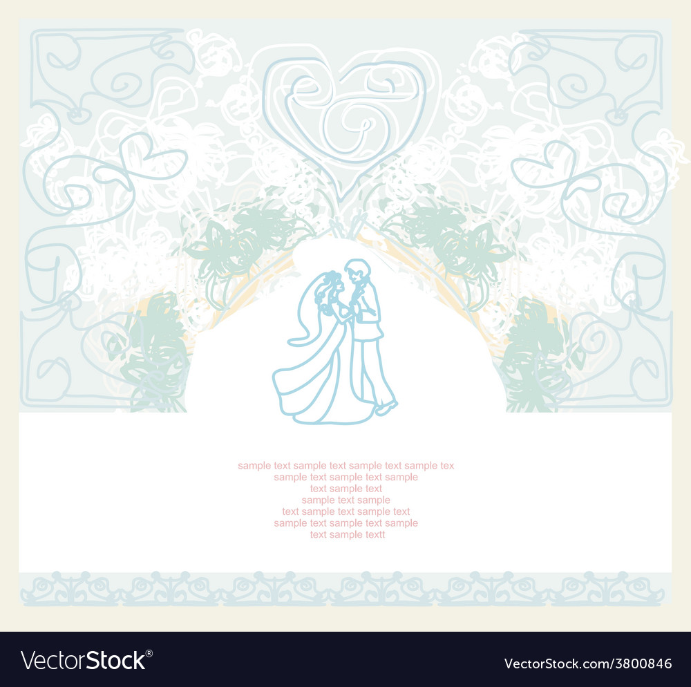 Ballroom wedding couple dancers - invitation vector | Price: 1 Credit (USD $1)