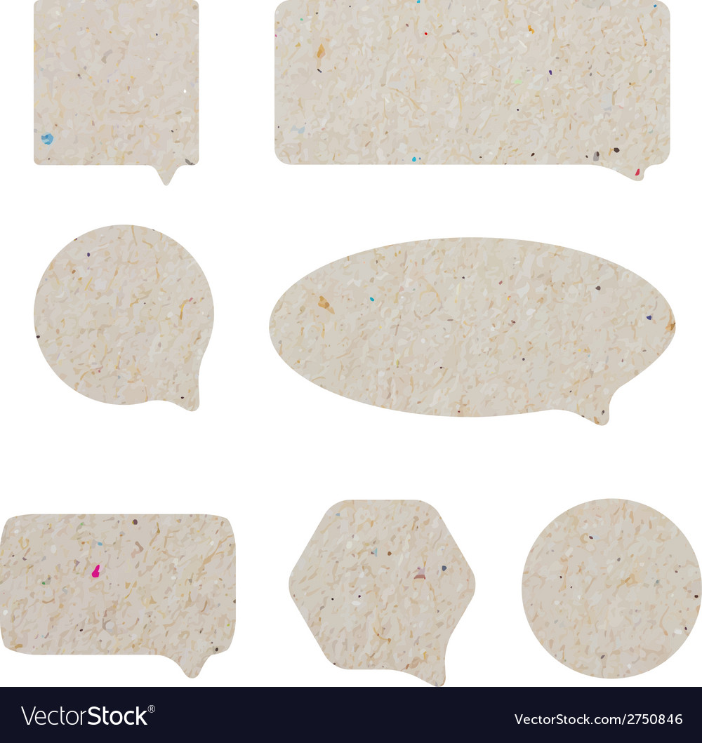 Blank empty white speech bubbles paper collection vector | Price: 1 Credit (USD $1)