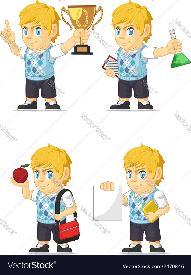 Blonde rich boy customizable mascot 2 vector | Price: 1 Credit (USD $1)
