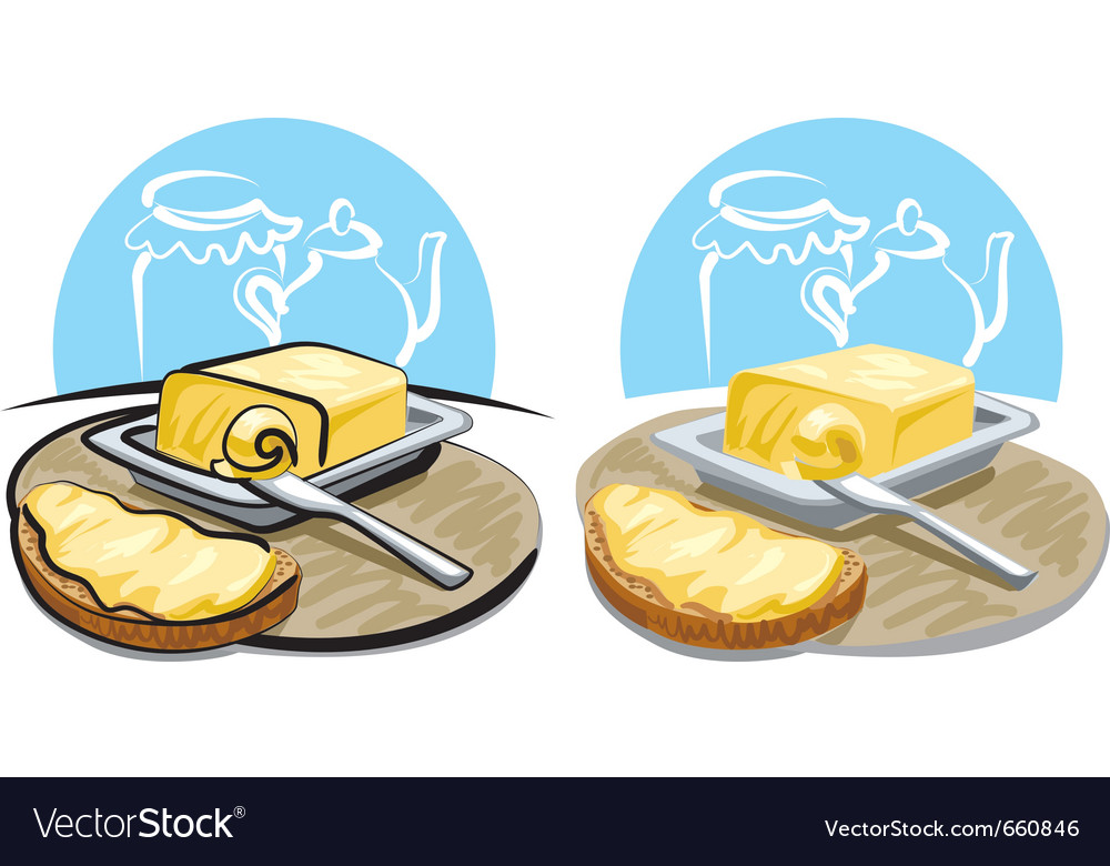 Butter and sandwich vector | Price: 3 Credit (USD $3)