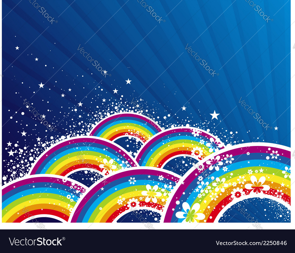 Color background with rainbows vector   Price: 1 Credit (USD $1)