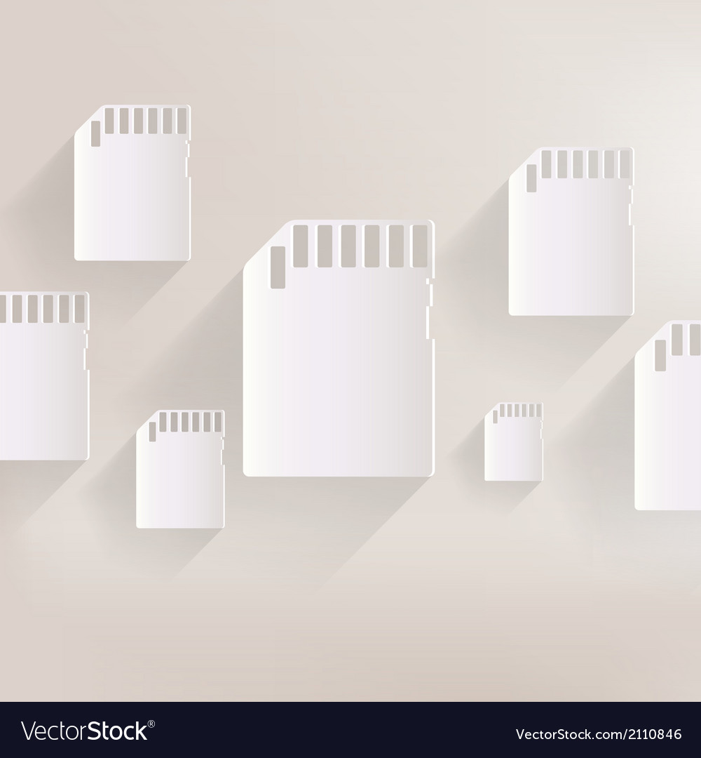 Compact memory card icon vector   Price: 1 Credit (USD $1)