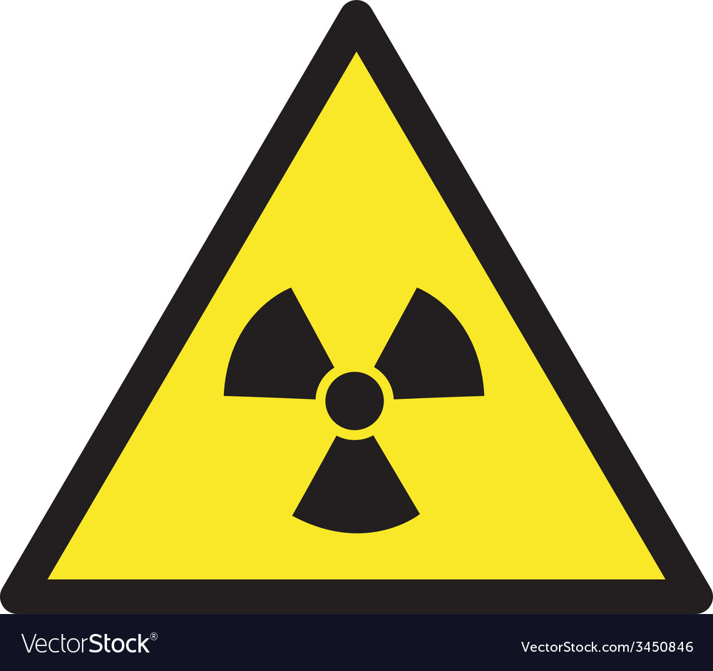 Danger radioactive safety sign vector