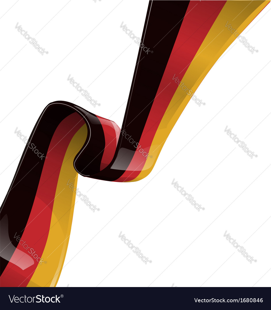 Germany ribbon flag vector | Price: 1 Credit (USD $1)