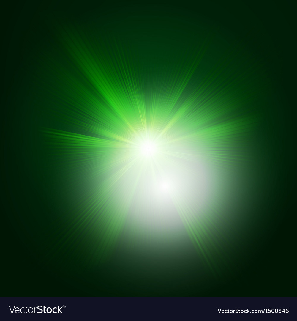 Green color design with a burst eps 10 vector | Price: 1 Credit (USD $1)