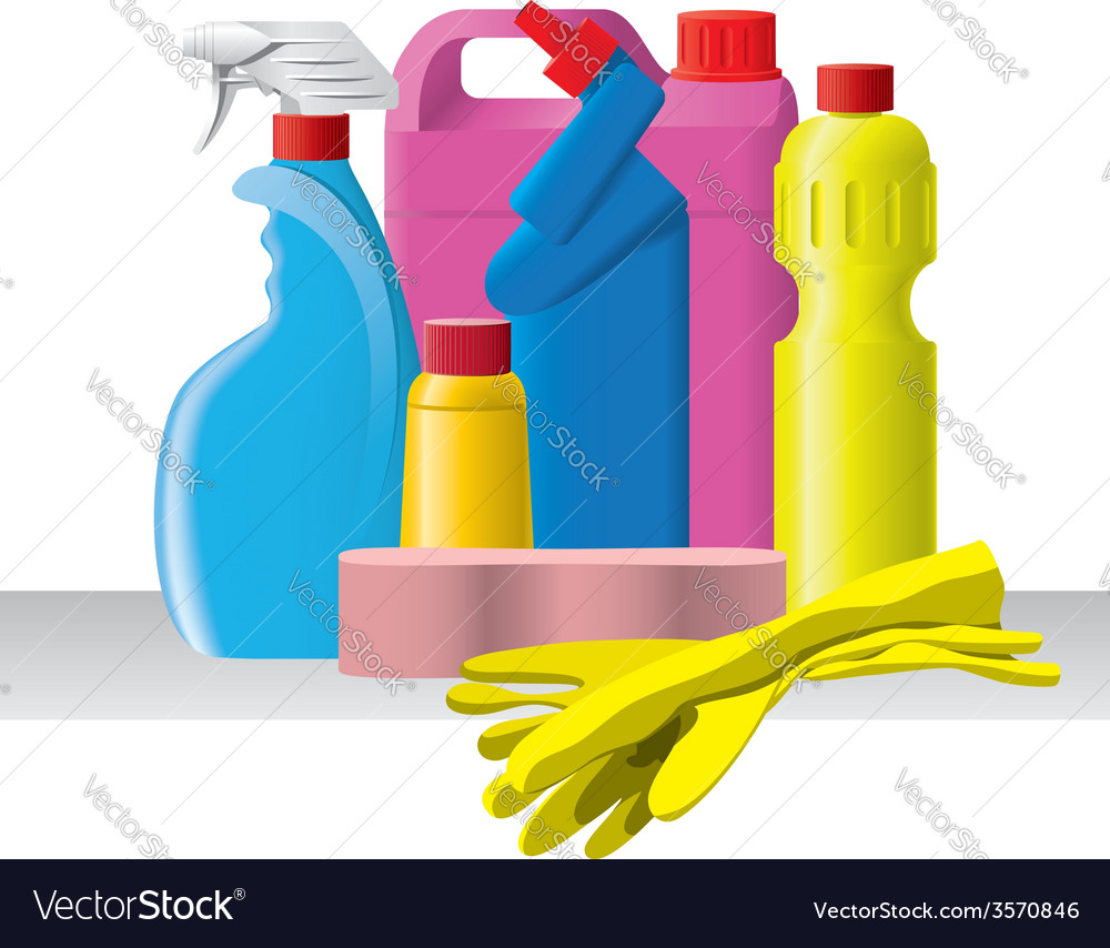 Group of detergents and cleaners vector | Price: 1 Credit (USD $1)
