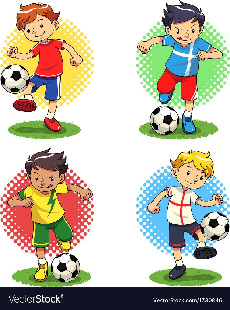Soccer boys vector | Price: 3 Credit (USD $3)