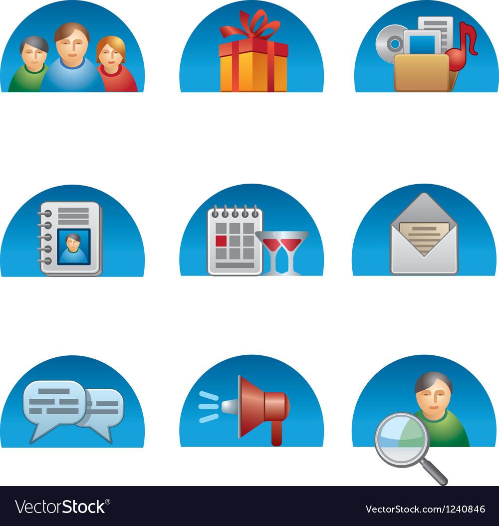 Social media icon set vector   Price: 3 Credit (USD $3)