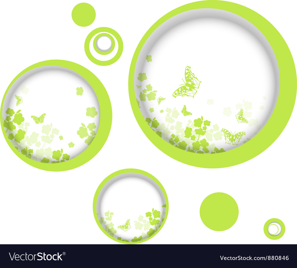 Spring or summer vitality abstract frames vector | Price: 1 Credit (USD $1)