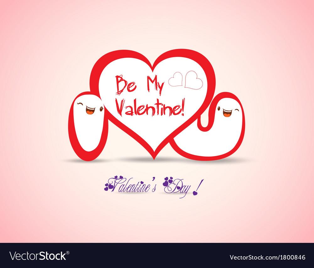 Valentine i love you vector | Price: 1 Credit (USD $1)
