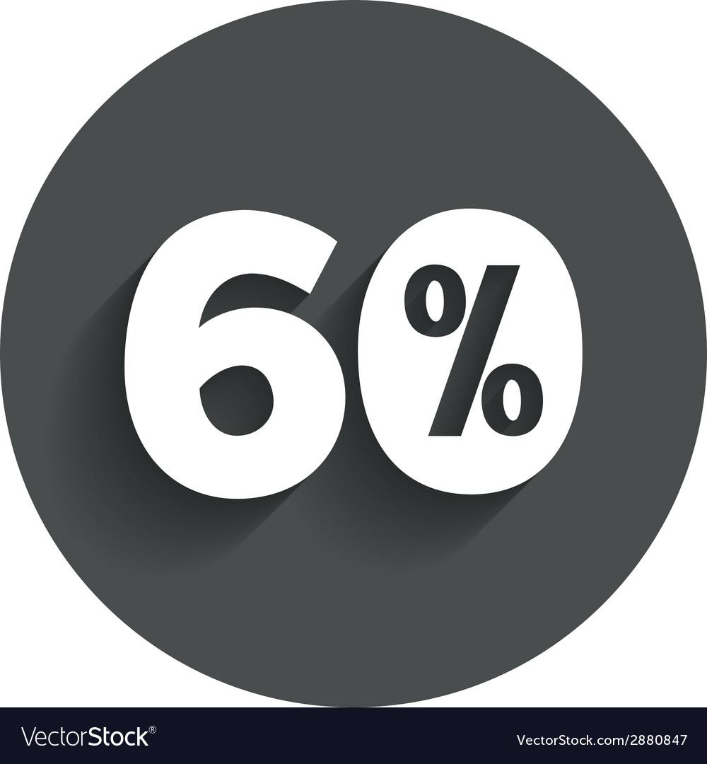 60 percent discount sign icon sale symbol vector   Price: 1 Credit (USD $1)