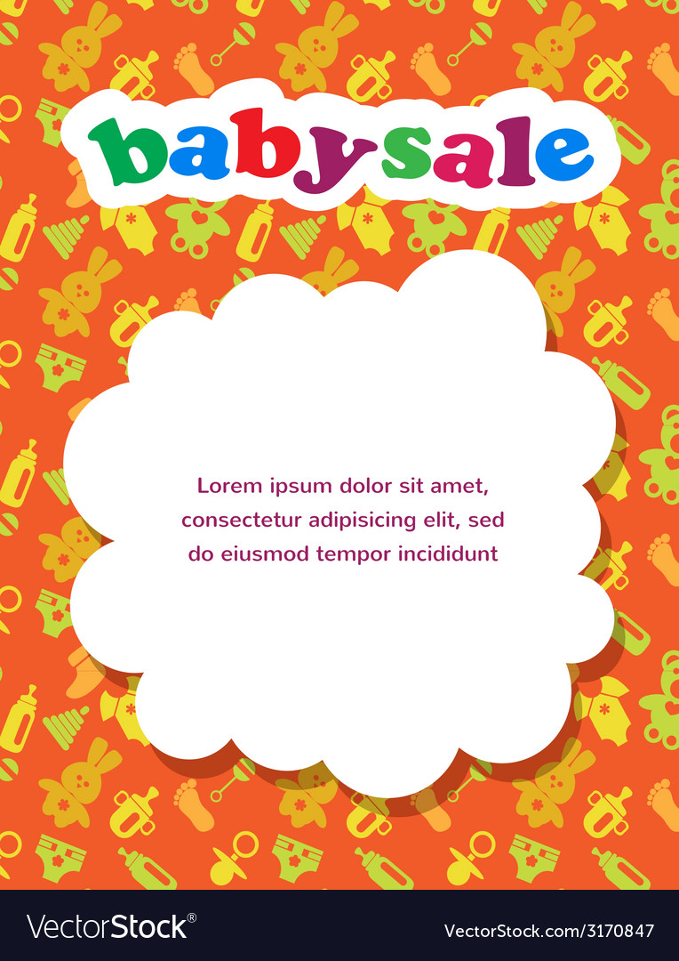 Baby sale with colorful background vector | Price: 1 Credit (USD $1)