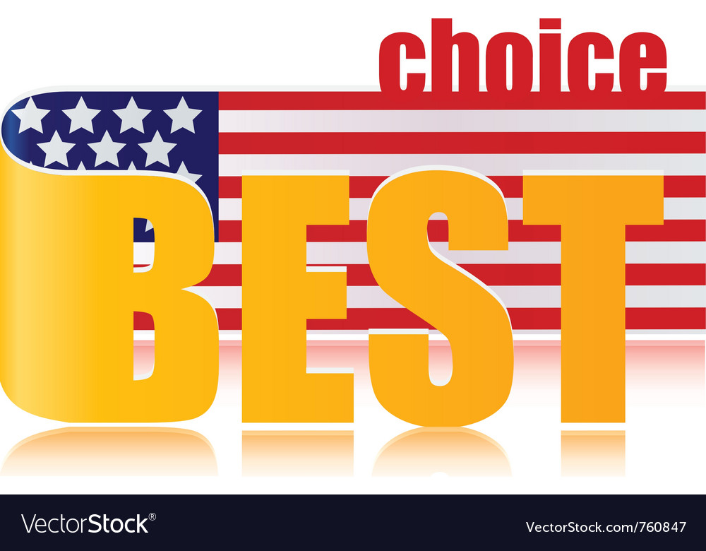 Best choice of america vector | Price: 1 Credit (USD $1)