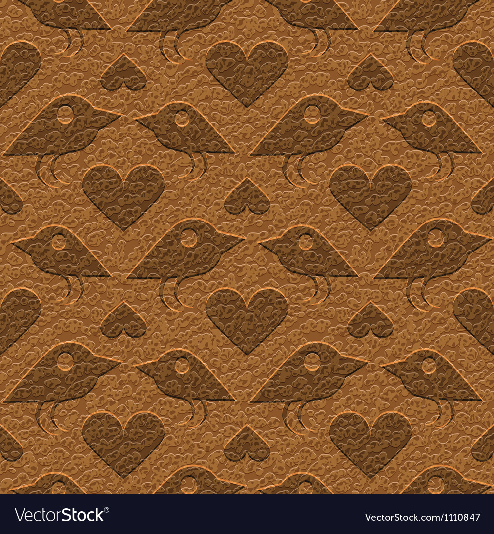 Birds on leather vector | Price: 1 Credit (USD $1)