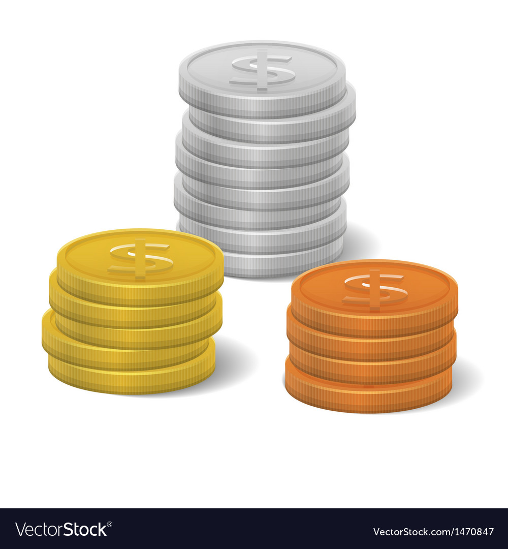 Coins icon vector | Price: 1 Credit (USD $1)