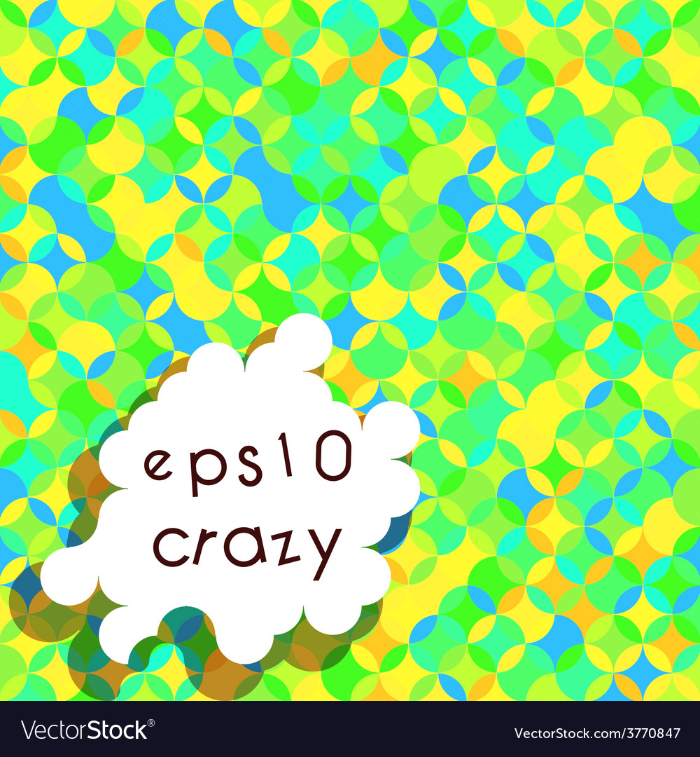 Crazy bright multicolored pattern vector | Price: 1 Credit (USD $1)