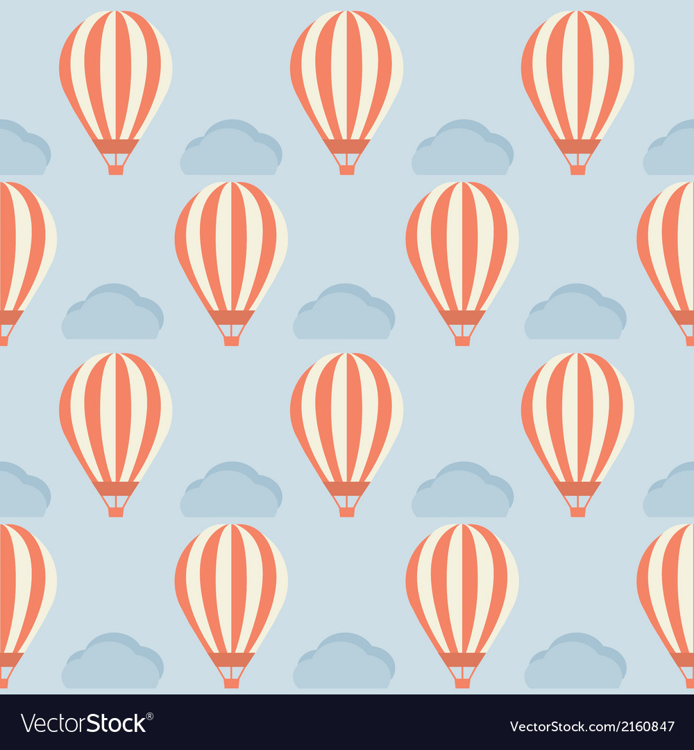 Hot air balloon pattern vector | Price: 1 Credit (USD $1)