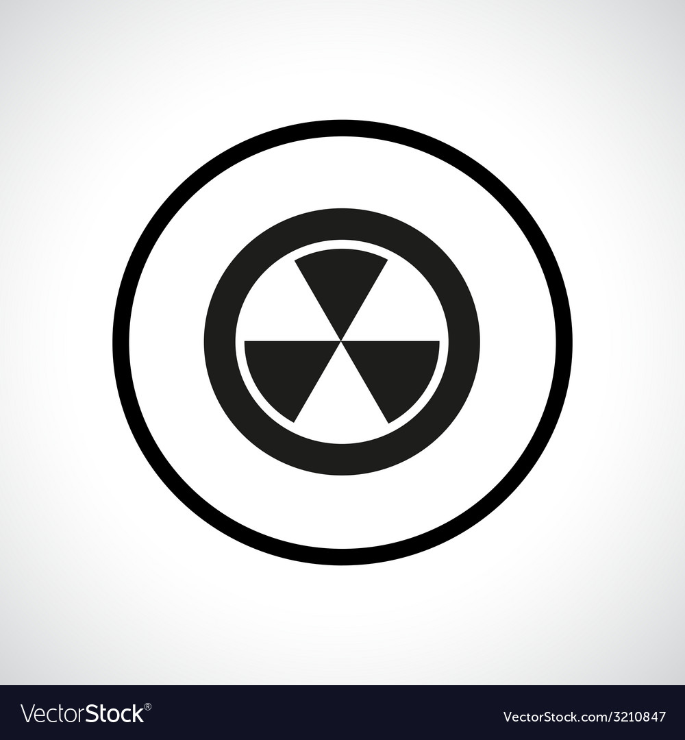 Radiation hazard symbol in a circle vector | Price: 1 Credit (USD $1)