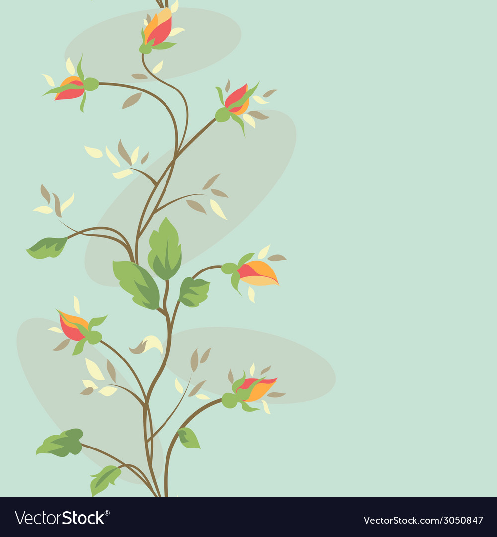 Seamless vintage flower border pattern vector | Price: 1 Credit (USD $1)