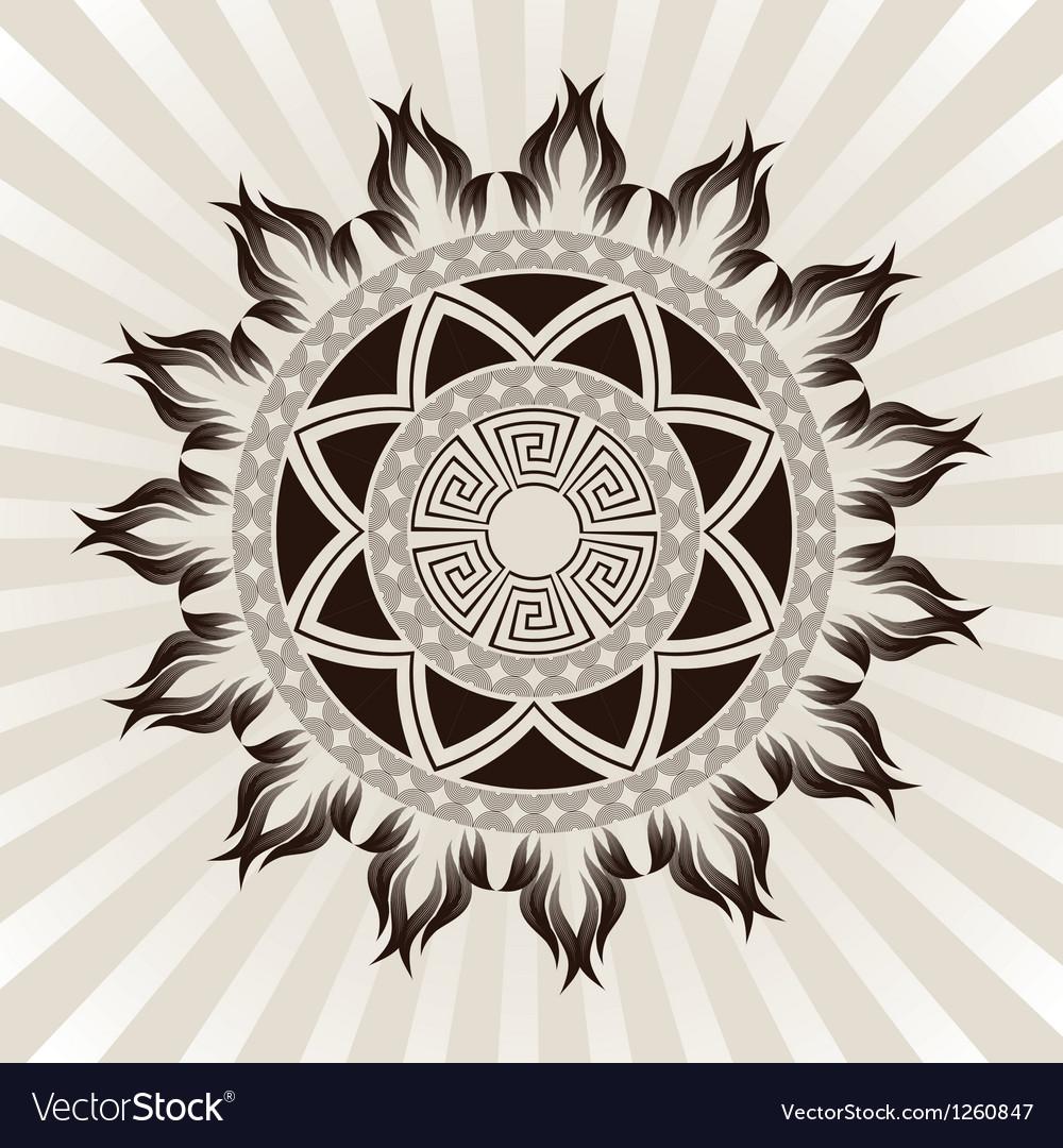 Sun-ornament vector | Price: 1 Credit (USD $1)