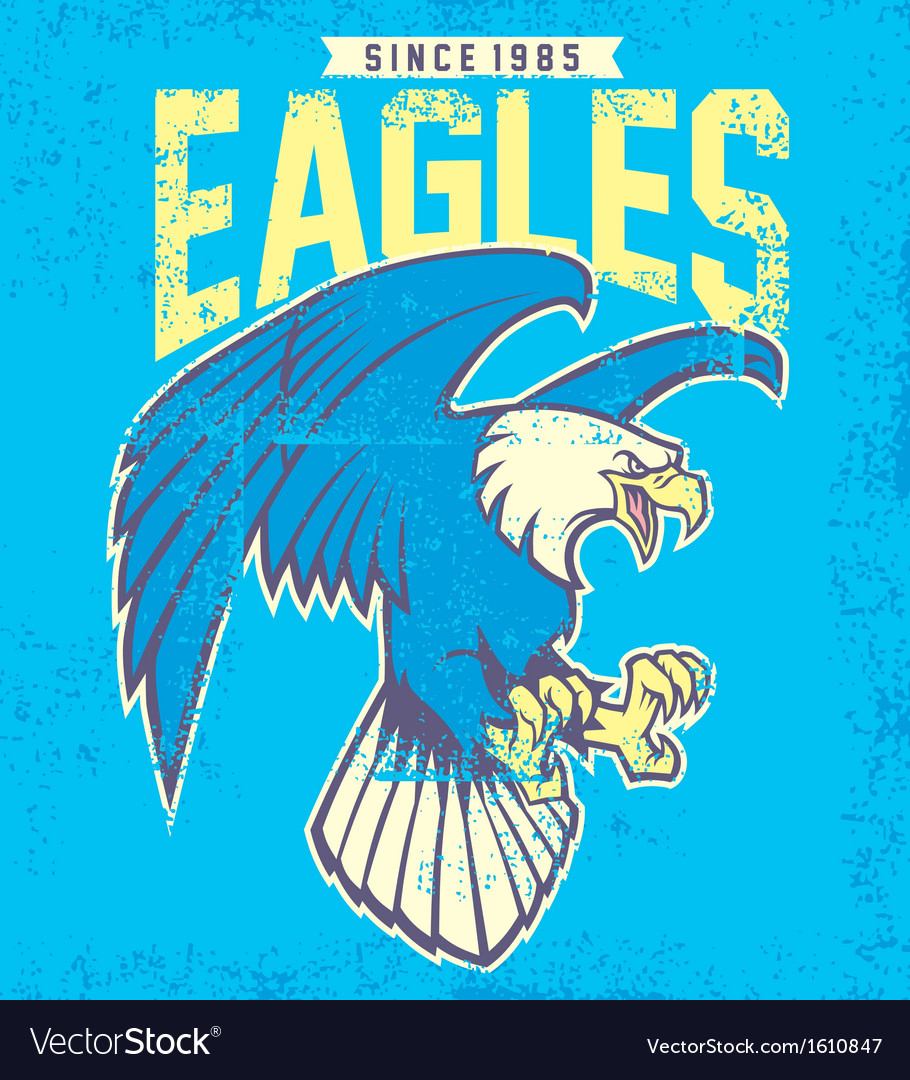 Vintage eagle mascot vector | Price: 1 Credit (USD $1)