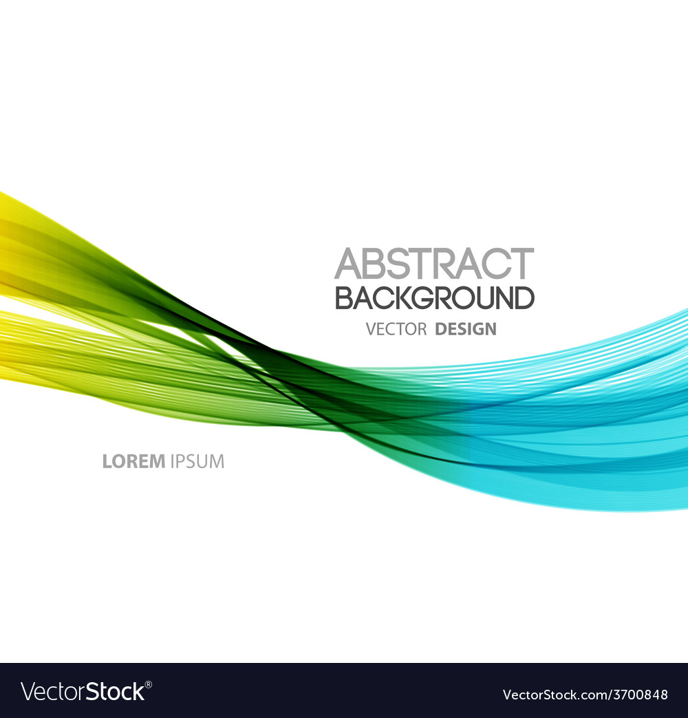 Abstract curved lines background template vector | Price: 1 Credit (USD $1)