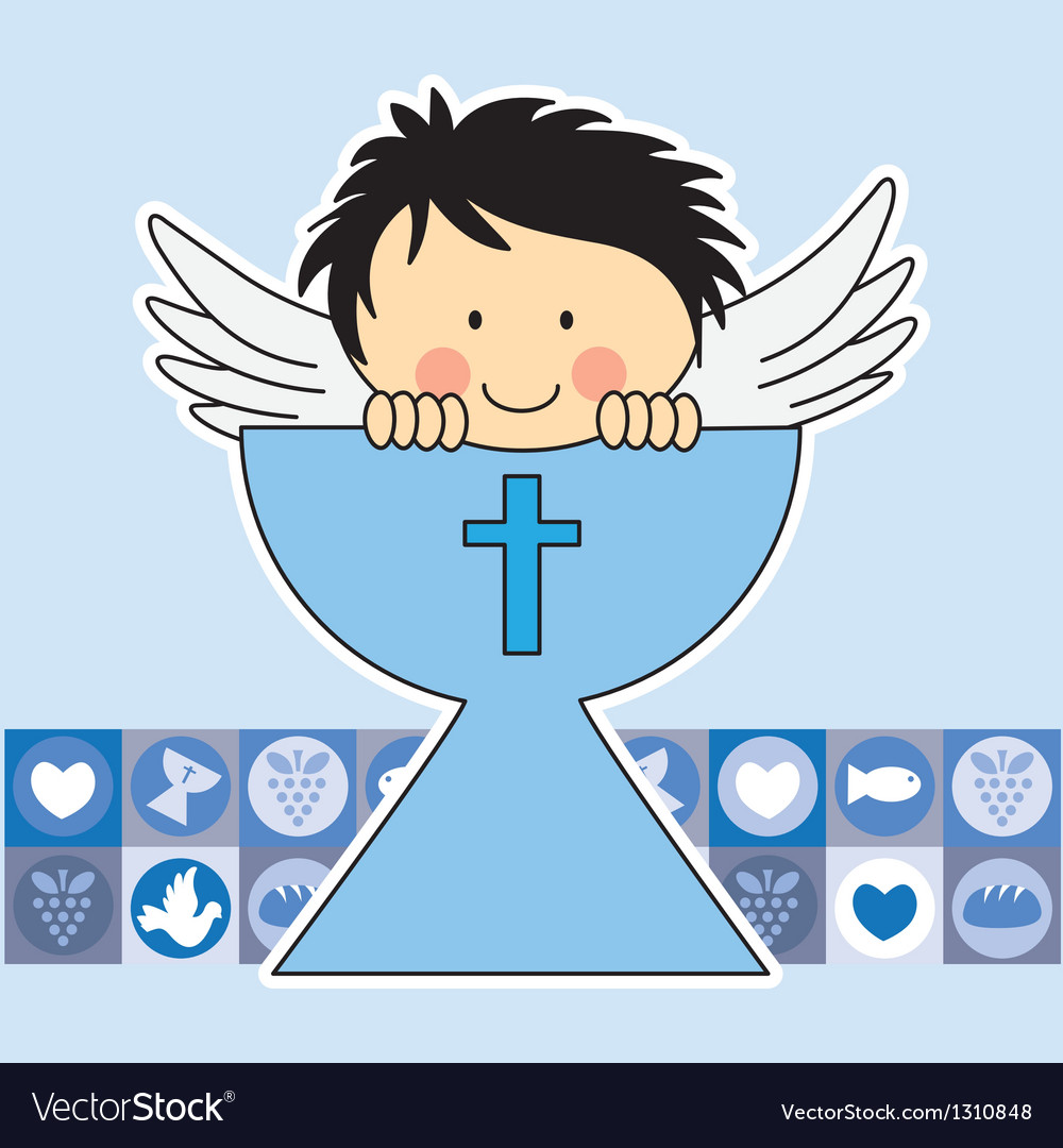 Angel in the holy grail vector | Price: 3 Credit (USD $3)