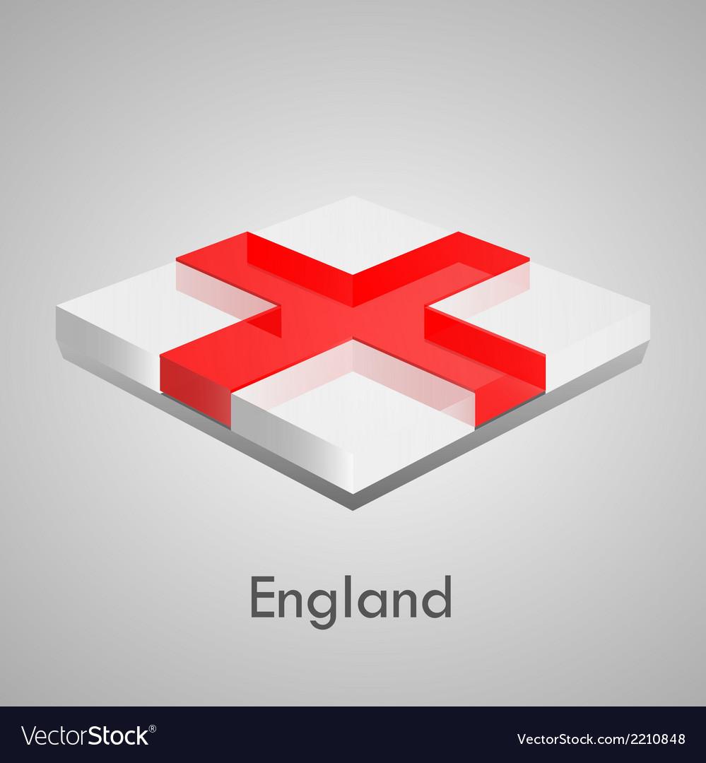 European flags set - england vector | Price: 1 Credit (USD $1)