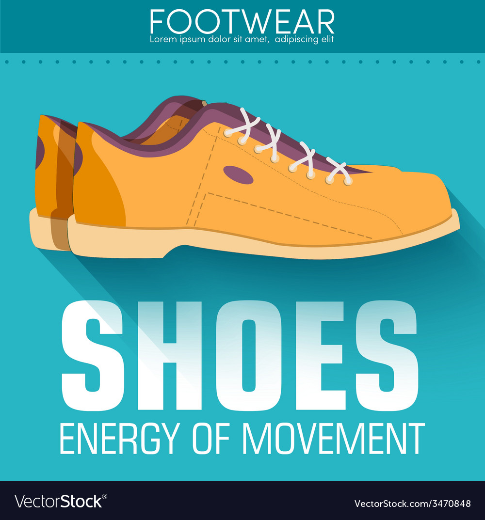 Flat styling shoes background concept desig vector | Price: 1 Credit (USD $1)