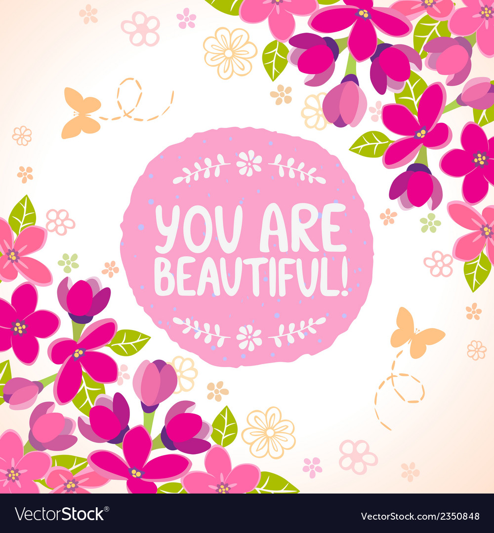 Flowers beautiful vector | Price: 1 Credit (USD $1)