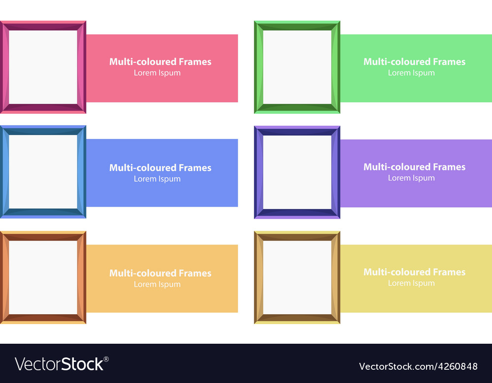 Frames and design vector | Price: 1 Credit (USD $1)