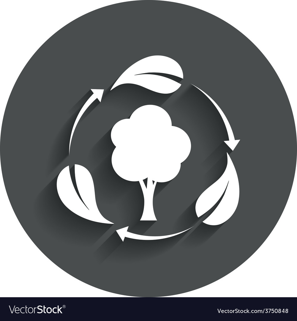 Fresh air sign icon forest tree with leaves vector | Price: 1 Credit (USD $1)