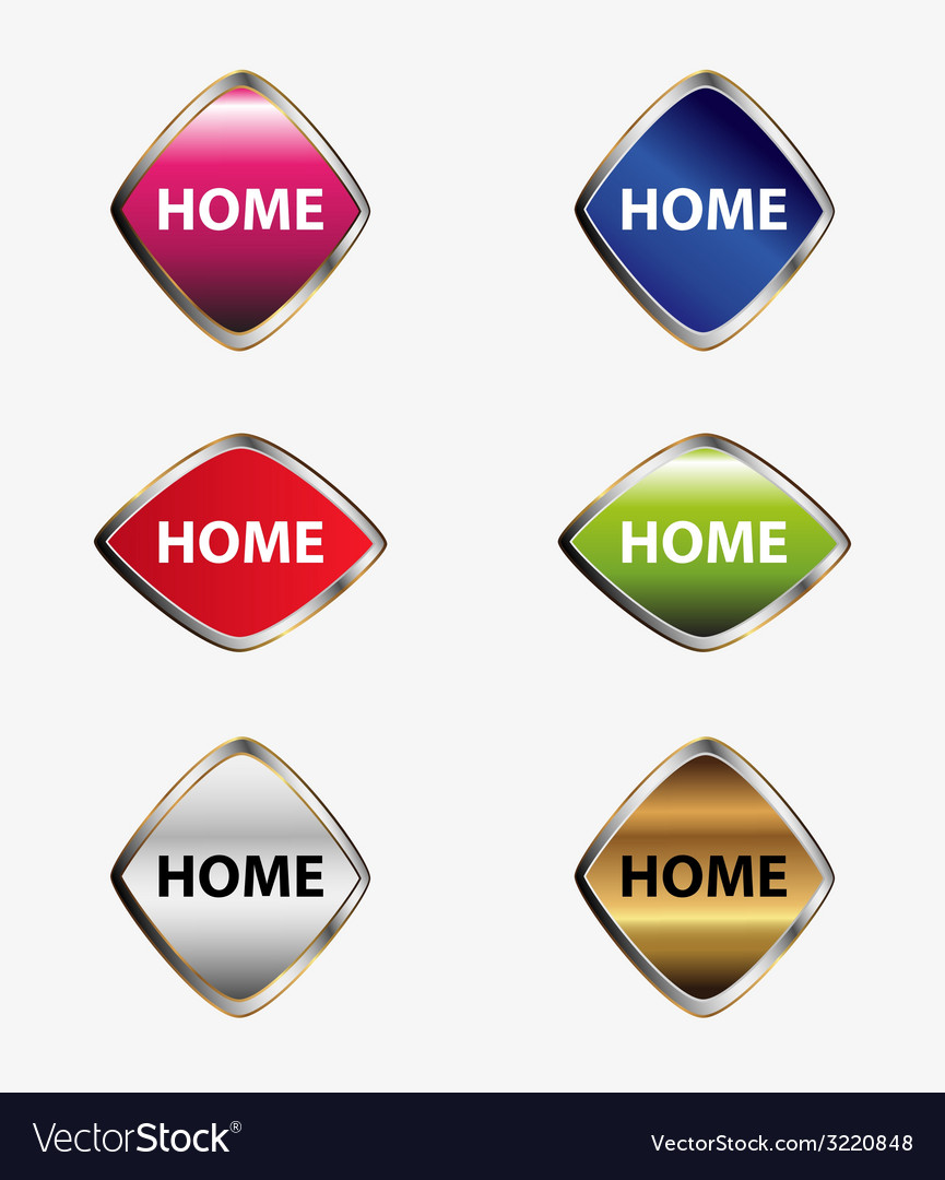 Home button label set vector | Price: 1 Credit (USD $1)