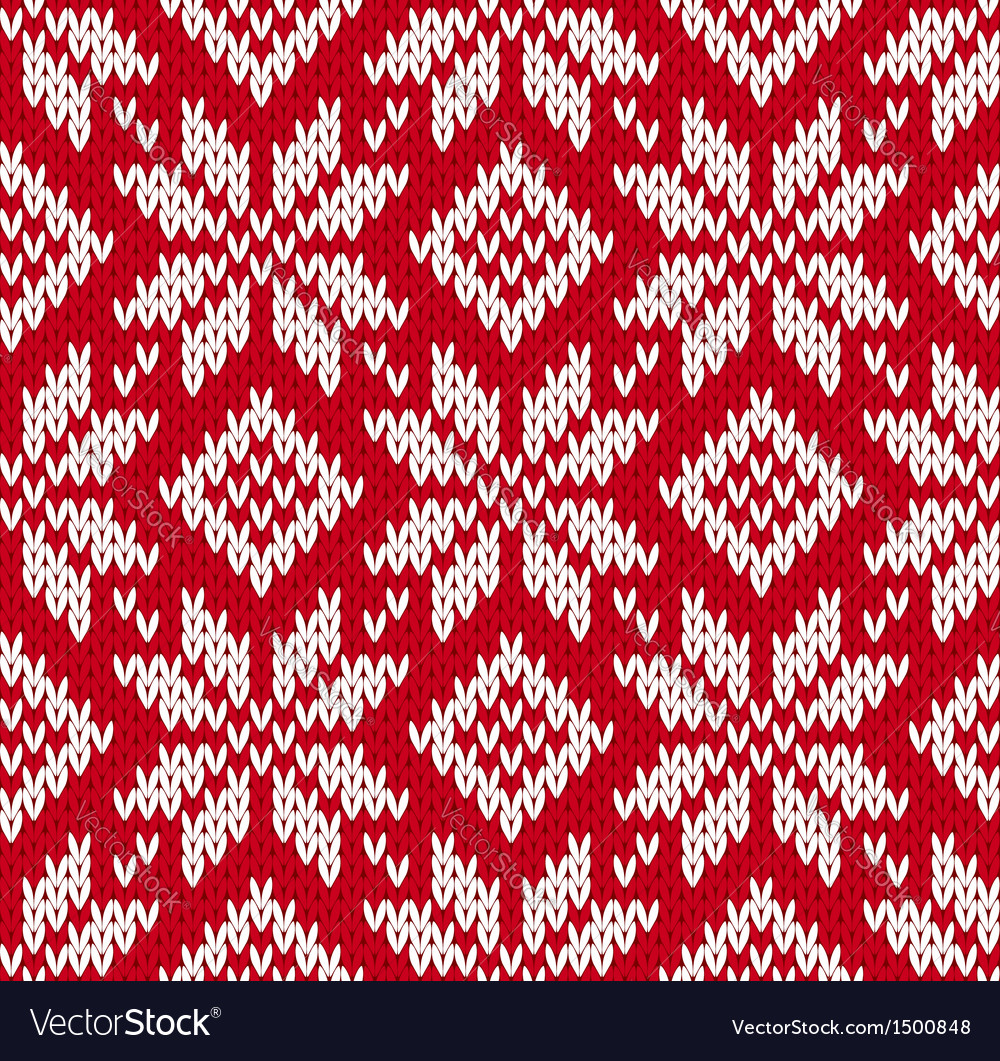 Nordic knitted seamless pattern vector | Price: 1 Credit (USD $1)