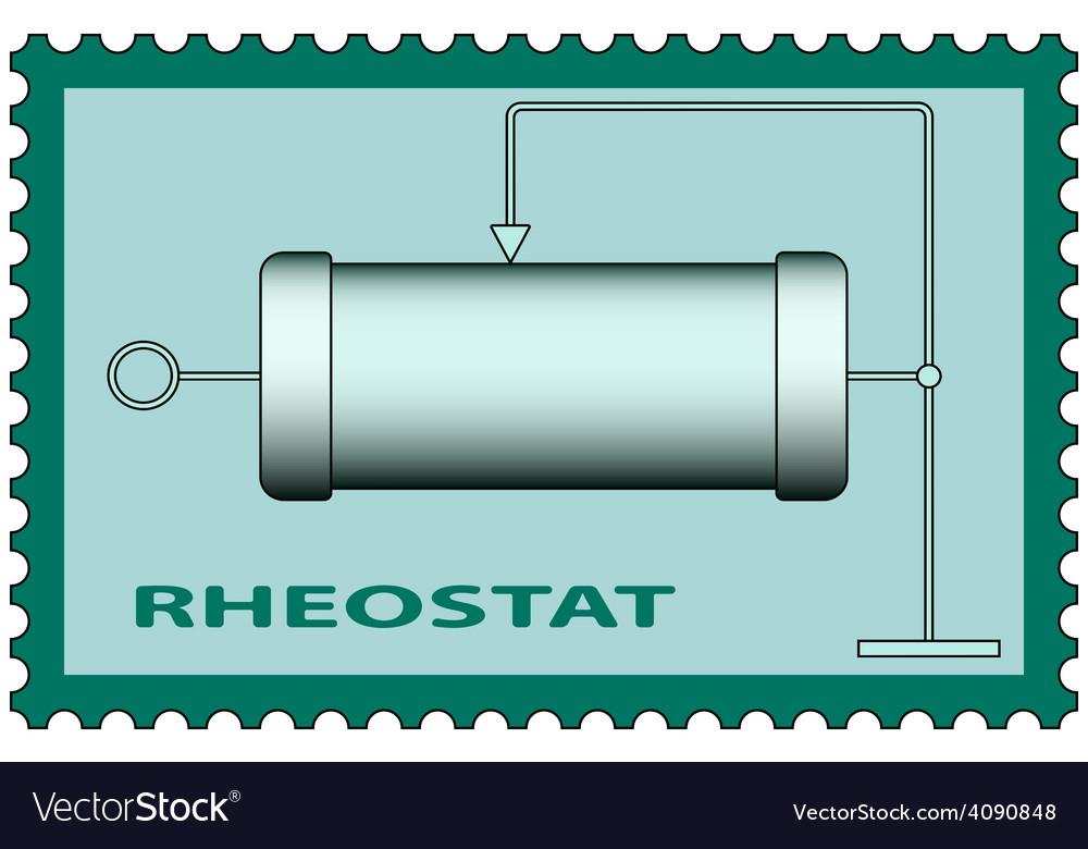 Rheostat on stamp vector | Price: 1 Credit (USD $1)