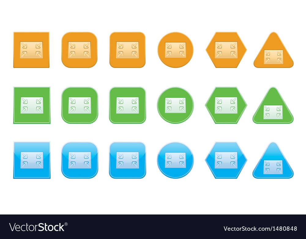 Set of normal screen icons vector | Price: 1 Credit (USD $1)