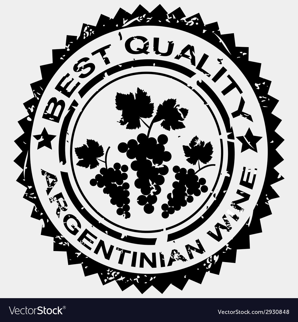 Stamp for argentinian wine vector | Price: 1 Credit (USD $1)