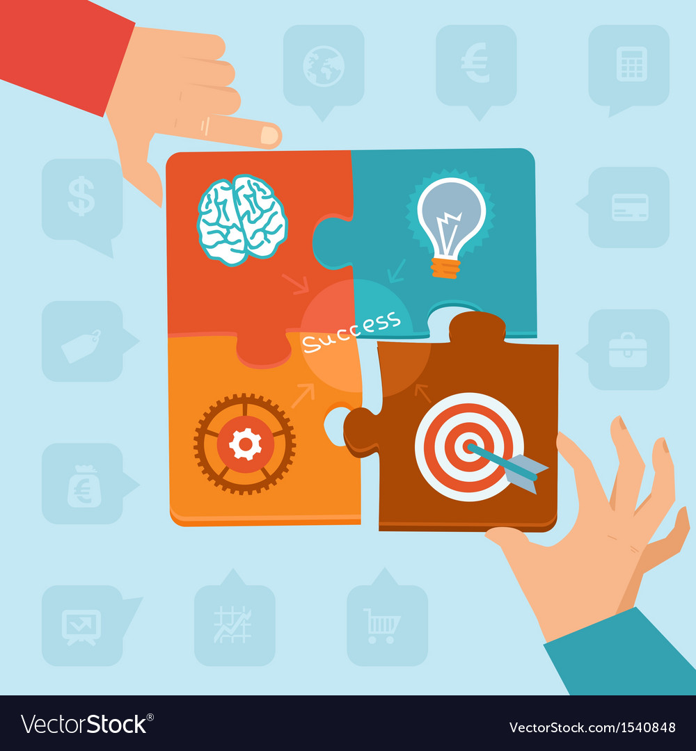 Start up success - puzzle vector | Price: 1 Credit (USD $1)