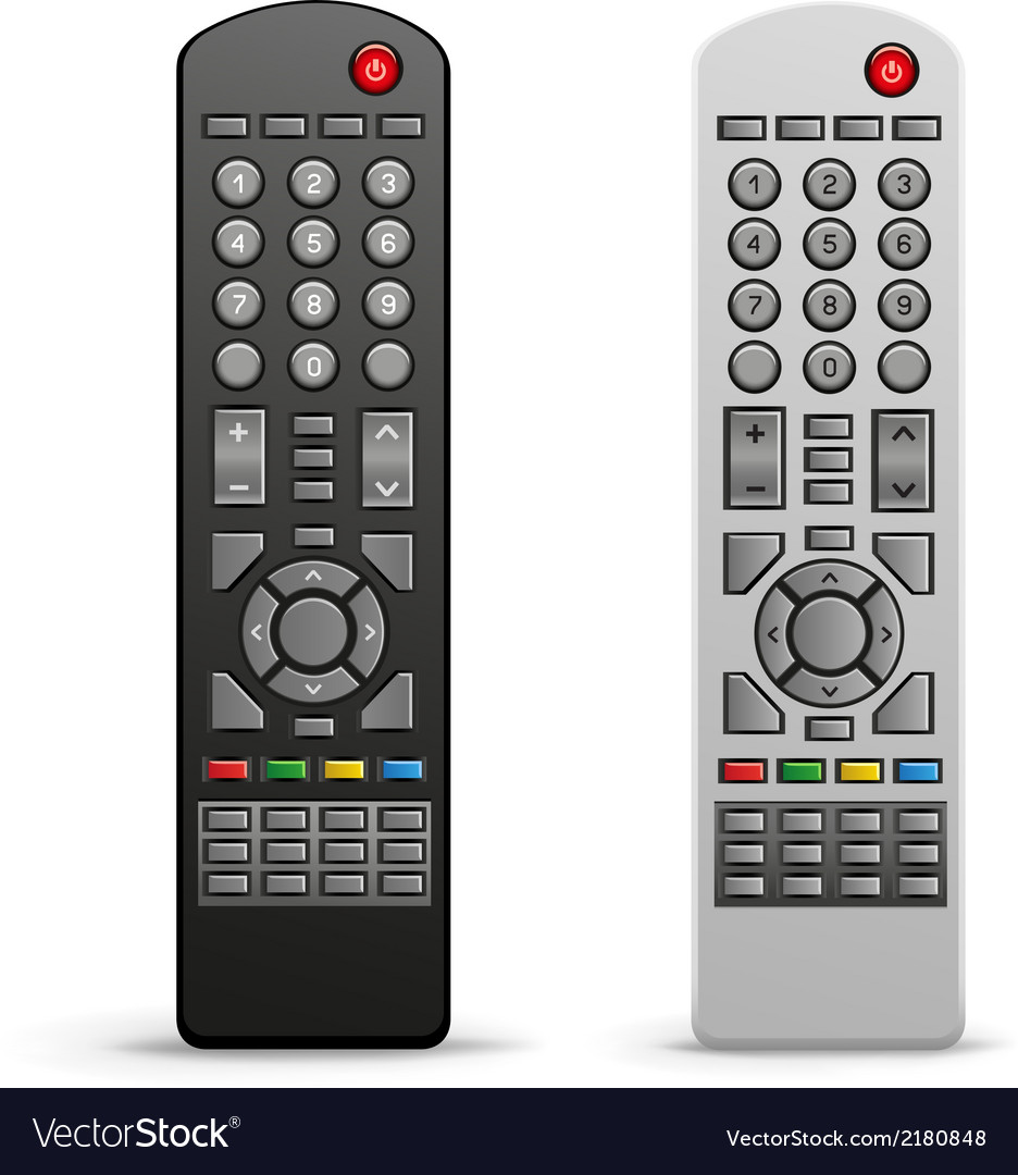 Tv remote controller vector | Price: 1 Credit (USD $1)