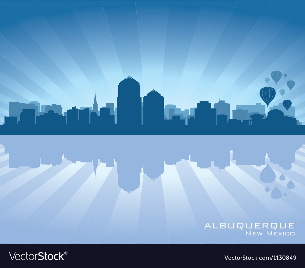 Albuquerque new mexico skyline vector | Price: 1 Credit (USD $1)